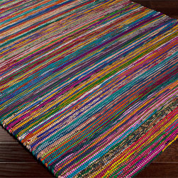 multi colored striped rug rugs find area rugs kitchen rugs and round rugs online. Black Bedroom Furniture Sets. Home Design Ideas