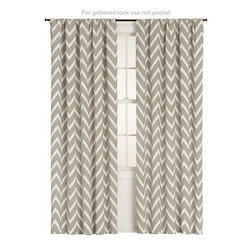 Teramo 50x84 Curtain Panel - Who doesn't love a good chevron? I think these would perfectly frame the blooming trees outside your window. They also feel light enough to let ample sunshine in.