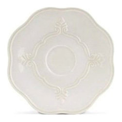 Lenox Corporation - Lenox Butlers Pantry Gourmet Saucer - Set of 4 - LNOX796 - Shop for Dishes and Plates from Hayneedle.com! No cup of tea is complete without a beautiful saucer to set it on and the Lenox Butlers Pantry Gourmet Saucer - Set of 4 is the perfect set for making any cup of tea a bit more refined. Crafted from durable stoneware that's microwave- and dishwasher-safe this gorgeous set of saucers features a sculpted leaf design and scalloped edges making it perfect for formal and informal occasions.About Lenox CorporationLenox Corporation is an industry leader in premium tabletops giftware and collectibles. The company markets its products under the Lenox Dansk and Gorham brands propelled by a shared commitment to quality and design that makes the brands among the best known and respected in the industry. Collectively the three brands share 340 years of tabletop and giftware expertise.