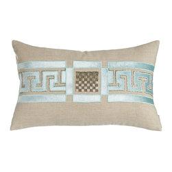 "Lili Alessandra - Dimitri Pillow with Beading Detail 14"" x 20"" - NATURAL/SEA FOAM (OTHER) - Lili AlessandraDimitri Pillow with Beading Detail 14"" x 20"""