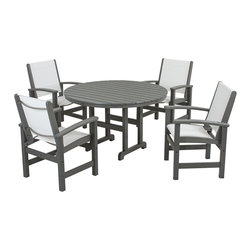 POLYWOOD - POLYWOOD Coastal 5-Piece Dining Set -