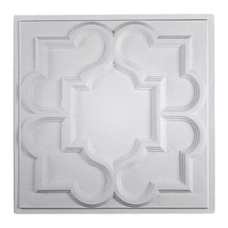 """Victorian Ceiling Tile - Translucent-Sample - Perfect for both commercial and residential applications, these tiles are made from thick .03"""" vinyl plastic. Their lightweight yet durable construction make these tiles easy to install. Waterproof, these tiles are washable and won't stain due to humidity or mildew. A perfect choice for anyone wanting to add that designer touch at an amazing price."""