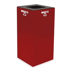 Witt Industries - Witt Industries Geo Cubes 32 Gallon Scarlet Recycling Bin Multicolor - 32GC01-SC - Shop for Recycling Bins from Hayneedle.com! Encourage others to recycle with the Witt Industries Geo Cubes 32 Gallon Scarlett Recycling Bin. The scarlet color is both stylish and bold making it easy to see while the included decals clearly designate what the bin is for. All you have to do is decide what you want to use it for and choose a lid. Compact and fire safe steel construction makes this bin durable and long lasting. The bin holds up to 32 gallons and measures 15L x 15W x 32H.About Witt IndustriesWith its rich and established history in the steel waste receptacle manufacturing industry that dates back to 1887 Witt Industries has been in the forefront with its innovation quality and service. The company's founder George Witt invented and patented the first corrugated galvanized ash can and lid back in 1889 and the company has never looked back. Today Witt Industries is part of the Armor Metal Group and is a woman-owned business.
