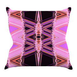 """Kess InHouse - Nina May """"Decorama Pink"""" Throw Pillow (16"""" x 16"""") - Rest among the art you love. Transform your hang out room into a hip gallery, that's also comfortable. With this pillow you can create an environment that reflects your unique style. It's amazing what a throw pillow can do to complete a room. (Kess InHouse is not responsible for pillow fighting that may occur as the result of creative stimulation)."""