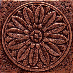 marblesystems - Brushed 4x4 Rosette Metal Decorative - Go for the bronze! Shaped in a rosette, this pretty piece brings Deco-inspired style to your wall. Mix it up with other tiles to create eye-catching interest.