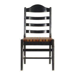 Stanley Furniture - Artisan-Ladderback Side Chair - The classic ladderback thrives. Behold our version in the Ladderback Side Chair, updated to suit today's needs. Beautifully aged finishes and a woven belt leather seat that will gain character with each passing year.