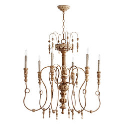 "Quorum International - Quorum 6206-6-94 Salento 40""/6Lt Chandelier -Fru - Quorum 6206-6-94 Salento 40""/6LT Chandelier -Fru"