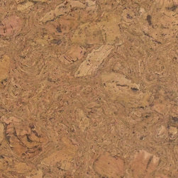 Colored Cork Tiles in Nugget Texture - Natural Nugget textured cork tiles for flooring from Globus Cork. 25 shapes. Made in the USA