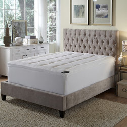 None - BEHRENS England� High-loft Down Alternative Fiber Bed - BEHRENS England� high-loft fiber bed has a soft brushed microfiber cover and special sewn-through box quilting to keep the filling from shifting. Machine washable and dryable for easy care.