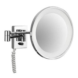 "Decor Walther - Decor Walther BS 40 PL Cosmetic Mirror - The BS 40 PL cosmetic mirror has been designed and made by Decor Walther.     The BS 40 PL cosmetic mirror of Decor Walther is a well-crafted   processed  item for upscale bathroom. By the noble chrome surface of the   vanity  mirror looks very valued and make applying makeup, shaving and   other  activities easier and more enjoyable. The BS 40 PL available in  a  3-fold  magnification also equipped with swivelling spiral cable,  plug  and socket.  Product Details:  The BS 40 PL cosmetic mirror has been designed and made by Decor Walther.     The BS 40 PL cosmetic mirror of Decor Walther is a well-crafted   processed  item for upscale bathroom. By the noble chrome surface of the   vanity  mirror looks very valued and make applying makeup, shaving and   other  activities easier and more enjoyable. The BS 40 PL available in  a  3-fold  magnification also equipped with swivelling spiral cable,  plug  and socket.  Details:                                      Manufacturer:                                      Decor Walther                                                                  Designer:                                     In House Design                                                                  Made in:                                     Germany                                                                  Dimensions:                                      Diameter: 10.24"" (26 cm), Height: 4.53"" (11.5 cm ) X Depth: 0.79"" (2 cm) X Width: 3.74"" (9.5 cm)                                                                  Light bulb:                                      2 x G23 Max 9W                                                                  Material:                                      Metal"