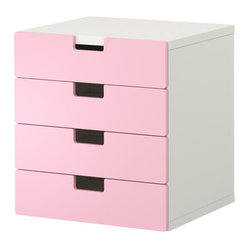 STUVA Storage Combination With Drawers, White/Pink