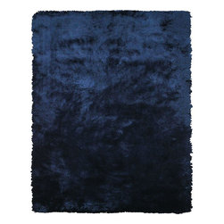 Feizy - Modern Indoor/Outdoor Area Rug: Feizy Rugs Indochine Dark Blue 3 ft. 6 in. x 5 - Shop for Flooring at The Home Depot. The Indochine collection is wonderfully plush and luxurious shag that has been table tufted of art silk. The sheen that these rugs possess makes them a playful addition to more casual contemporary settings. Decorating your space with an Indochine rug instantly creates a setting of warmth and comfort. Color: Dark Blue.