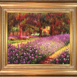 "overstockArt.com - Monet - Artist's Garden at Giverny - 20"" X 24"" Oil Painting On Canvas Need Help Decorating your Home? Click Here to get Inspired! Hand painted oil reproduction of a famous Monet painting, Artist's Garden at Giverny. The original masterpiece was created in 1900. Today it has been carefully recreated detail-by-detail, color-by-color to near perfection. Why settle for a print when you can add sophistication to your rooms with a beautiful fine gallery reproduction oil painting? Giverny sits on the banks of the River Seine. The village lies 50 miles Northwest from Paris, on the border next to the province of Normandy. Claude Monet noticed the village of Giverny while looking out the window of a train. In 1890 Monet bought a house and land in Giverny and created the magnificent gardens he wanted to paint. While Monet successfully captured life's reality in many of his works, his aim was to analyze the ever-changing nature of color and light. Known as the classic Impressionist, Monet cannot help but inspire deep admiration for his talent in those who view his work. This work of art has the same emotions and beauty as the original. Why not grace your home with this reproduced masterpiece? It is sure to bring many admirers!"