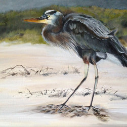 Ruffled Feathers (Original) by Fontaine Jacobs - Birds are always a challenge and I love a challenge. I painted this from a photograph captured just before this bird took flight.