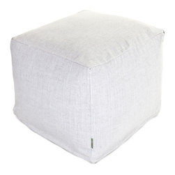 Majestic Home - Indoor Magnolia Wales Small Cube - A little bit of linen is all you need for a totally sophisticated look and feel. This update on the beanbag functions as a footstool, side table or comfy seat, kicking your favorite casual setting up a notch in style.
