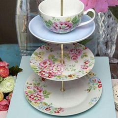 eclectic serveware by Cake Stand Land