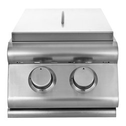 Blaze - Blaze Built-in Double Side Burner | LP - This precision cut, handmade double side burner is made of stainless steel and will provide you years of outdoor cooking enjoyment. If you are looking to create a gourmet outdoor meal complete with soups or side dishes, a slide-in side burner is the ideal addition to your outdoor kitchen.