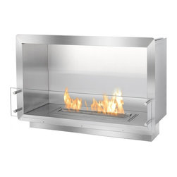 "Ignis - 39.5"" Single-Sided Ethanol Firebox Fireplace Wall Insert - This ethanol firebox, designed to be built into the wall or a custom structure offers stunning aesthetics and function to any space. The FB2400S Single-Sided Ethanol Firebox by Ignis uses patent-pending technology making it a safe fireplace to install into your wall or custom case. In addition to its safety measures, this ethanol fireplace insert burns wholly-renewable bio ethanol fireplace fuel that only produces heat, water vapor and carbon dioxide into the air. Therefore, it is a ventless fireplace without the hassles of traditional fireplaces."