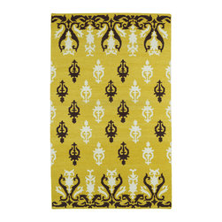 Kaleen - Kaleen Glam GLA04 28 Yellow Area Rug - 2 ft 6 in x 8 ft - The Glam collection puts the fab in fabulous! No matter if your decorating style is simplistic casual living or Hollywood chic, this collection has something for everyone! New and innovative techniques for a flatweave rug, this collection features beautiful ombre colorations and trendy geometric prints. Each rug is handmade in India of 100% wool and is 100% reversible for years of enjoyment and durability.