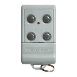 Skylink - Skylink G6-T4 4-Button Keychain Garage Door Remote Multicolor - G6-T4 - Shop for Garage Doors Openers and Accessories from Hayneedle.com! A one-touch solution for managing multiple garage doors the Skylink G6-T4 4-Button Keychain Garage Door Remote lets you open and close up to four doors from one tiny control pad. Made from tough durable ABS plastic this transmitter fits comfortably into your pocket or purse and features a keychain ring. The remote has an operational range of over 100 feet and features rolling-code technology that changes the access codes after each use to keep your home protected. A wall-mounted bracket is included. Power is provided by a 12V alkaline battery (size 23A). A Skylink SmartButton Receiver is required to communicate with the transmitter (not included).About Skylink Home Products Balancing the needs of both private and professional consumers the Skylink Group is committed to providing its customers high-quality long-lasting products at an affordable price. From garage doors to home security systems Skylink produces a wide variety of goods for use around the home and office. Multiple offices are established worldwide in California USA Onatario Canada and just outside Hong Kong China. Each office pairs with a local distribution center to ensure each individual customer's need is met in a timely manner. Customer satisfaction is not just a standard to be met for Skylink but a benchmark to be exceeded time and time again.
