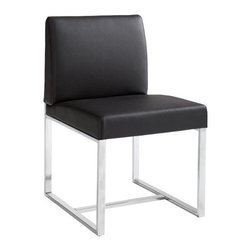 """Sunpan Modern - Addison Parsons Chair (Set of 2) - Features: -Sleek and modern but very comfortable dining chair.-Perfect for hotels and lounges.-Material: Faux leather/Chrome finished stainless steel.-Please note that although every attempt has been made to ensure accuracy, all dimensions are approximate and colors may vary.-Please note that the leg color on Sunpan dining chairs does not always match the dining table color.-Collection: Addison.-Distressed: No.-Upholstered Seat: Yes .-Upholstered Back: Yes .Dimensions: -Seat height: 18"""".-Overall Product Weight: 41 lbs.Warranty: -This item is deemed acceptable for both residential and nonresidential environments such as restaurants, hotels, lounges, offices and reception areas. Please note that this item carries the manufacturer's standard ONE YEAR WARRANTY from the date of purchase. Please contact Wayfair customer service or sales representatives for further information."""