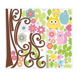 RoomMates Peel & Stick - Happi Scroll Tree Wall Decal - One of our most popular designs, our scroll tree wall decals are sophisticated, fun, and easy to apply! Apply it as shown or create your own custom configuration, the choice is yours! Every piece is fully removable and repositionable, and can be removed and re-applied over and over without damage or leaving behind any sticky residue.