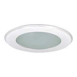 "Nora Lighting - Nora NT-5025 5"" Frosted Dome Shower Trim, Nt-5025w - 5"" Frosted Dome Shower Trim"