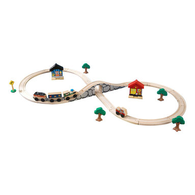 Kidkraft - KidKraft Figure 8 Train Set with 38 Pieces - Kidkraft - Train Tables and Sets - 17822 - Our Figure 8 Train Set would make a great starter set for any young boy or girl who has never owned one before. It's tons of fun pushing the train up and down the long hilly track! Learning how the different track pieces connect even helps kids improve their fine motor skills.