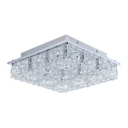 Eglo - Eglo 200256 Stelaria 2 8 Light Flush Mount Ceiling Fixture - Features: