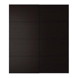 IKEA of Sweden - PAX MALM Pair of sliding doors - Pair of sliding doors, black-brown
