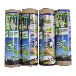 Bambooee - Bambooee Green Clean Unpaper Paper Towels Set - 4 Rolls of Bambooee Towels - With your busy schedule, finding time to sneak in house cleaning can be a difficult task, and it's easy to be tempted to reach for those convenient paper towels when it comes time to tackle a tough cleaning job. Fortunately, you don't have to resort to cr