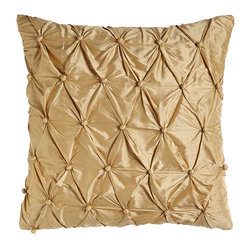 "Austin Horn Classics - Tufted Silk Pillow 20""Sq. - GOLD - Austin Horn ClassicsTufted Silk Pillow 20""Sq."