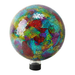 "Alpine Corporation - 10"" Multi Color Mosaic Gazing Globe - Liven up your outdoors with our amazing gazing globe collection for an enchanting and colorful display. Use them as an accent to your patio or move them out in to the garden to creat a perfect centerpiece for your favorite outdoor setting."
