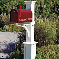 "St. Andrews Mail Post - Standing with pride at the end of your property, this classic 5 1/2"" sq. post features a handcrafted decorative paneled base, 21 1/2"" H. Crafted in cellular vinyl."