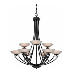 Dolan Designs - 9 Light 35 75 Height Chandelier With 2 Tier - Bulb Type:Halogen. Bulb Base:G9. Bulb Wattage:60. Bulb Count:9. Bulbs Included