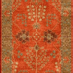 Jaipur Rugs - Transitional Oriental Pattern Red /Orange Wool Tufted Rug - PM51, 2.6x12 - The Poeme Collection takes traditional designs and re-invents them in a palette of modern, highly livable colors. Each design is made from premiere hand-spun wool and crafted with precision for the look and feel of a hand-knotted rug, at the more affordable cost of a hand-tufted. Poeme will effortlessly coordinate individual design elements to finish any room.