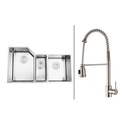 Ruvati - Ruvati RVC2588 Stainless Steel Kitchen Sink and Stainless Steel Faucet Set - Ruvati sink and faucet combos are designed with you in mind. We have packaged one of our premium 16 gauge stainless steel sinks with one of our luxury faucets to give you the perfect combination of form and function.