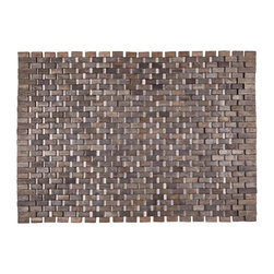 None - Douglas Dark Brown Exotic Wood Mat (18x30-inch) - Crafted of exotic wood, this handsome mat will add an elegant touch to any home. It is from Entryways' Exotic Woods Collection, meets the industry's highest standards, and combines natural beauty and durability.