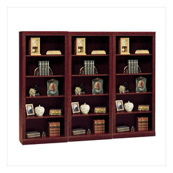 "Bush - Bush Saratoga 5 Shelf Wall Bookcase in Harvest Cherry - Bush - Bookcases - W1615C03PKG -Bush Saratoga 5 Shelf 71""H Wood Bookcase in Harvest Cherry"