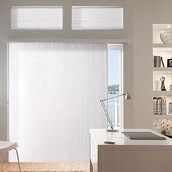 "Graber Slide-Vue 3/8"" Double Cell Light Filtering - Enhance a wide window or patio door with the captivating Graber Slide-Vue vertical Cellular Shades."