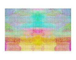 DiaNoche Designs - Pastel Fields Area Rug - Finish off your bedroom or living space with a Woven Area Rug with a Chevron pattern weave from DiaNoche Designs. The last true accent in your home that really ties the room together. Maybe its a subtle rug for your entry way, or an artisti conversation piece in your living area, your decorative floor art will continue to dazzle for many years. MADE IN THE USA!!  Each purchase supports the artist who created the image.  1/4 inch thick. Each rug is machine loomed, washed and pre-shrunk, printed, then hemmed on the edges.   Spot treat with warm water or professionally clean. Dye Sublimation printing adheres the ink to the material for long life and durability.