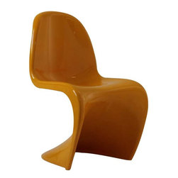 Modway - Slither Dining Side Chair in Yellow - Sleek and sturdy, rock back and forth in comfort with this injection molded marvel. Constructed from a single piece of strong ABS plastic, the 's' shaped Slither chair can be found in many fashionable settings. Perfect for dining areas in need of a little zest, the design is versatile, fun and lively. Surprisingly cushy, choose from a selection of vibrant colors that won't fade over time. Slither is also perfect for spaces short on room.