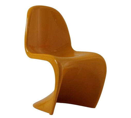 Modway - Slither Dining Side Chair in Yellow - Sleek and sturdy, rock back and forth in comfort with this injection molded marvel. Constructed from a single piece of strong ABS plastic, the s shaped Slither chair can be found in many fashionable settings. Perfect for dining areas in need of a little zest, the design is versatile, fun and lively. Surprisingly cushy, choose from a selection of vibrant colors that wont fade over time. Slither is also perfect for spaces short on room.