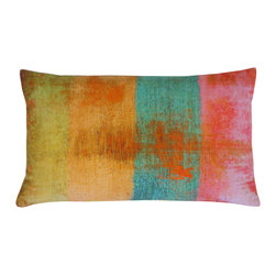 JITI - Small Velvet Fresca Multicolored Pillow - Art isn't just for your walls. The pattern of this colorful velvet pillow is practically frame-worthy, while the feather and down-filled insert ensures it's also super comfy.
