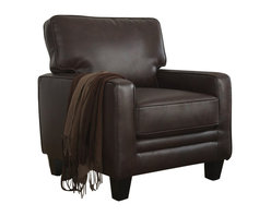 Serta by True Innovations - Serta Monaco Accent Chair in Biscuit Brown Bonded Leather - Serta by True Innovations - Accent Chairs - CR44107 -For more than 75 years, Serta has been an industry leader in comfort products worldwide. That tradition of innovation and quality continues today. From a brand that is synonymous with quality, comfort and style, the Serta Monaco Collection Track Arm Accent Chair offers many attractive features that you're going to love. Starting with its Tool-free EZ assembly, which is the most convenient and stress free on the market today. This product goes from box to built in mere minutes. But that's just the beginning, this stylish accent chair is generous and comfortable as well.