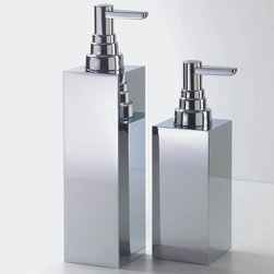 Modo Bath - Harmony Chrome Soap Dispenser - Harmony 407 Soap Dispenser in Chrome, Soap Dispenser In Chrome or Nickel Satin, Free Standing, Made in Germany