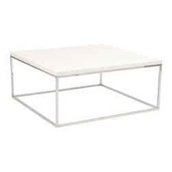 Eurostyle - Eurostyle Teresa Square Coffee Table in White Lacquer & Chrome - Square Coffee Table in White Lacquer & Chrome belongs to Teresa Collection by Eurostyle There's plain and there's perfect. This collection of 4 Teresa table designs are not only perfectly designed for strength and timeless style, they work beautifully together. Go for the group! Coffee Table (1)