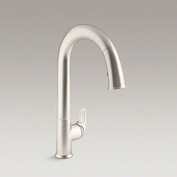 """KOHLER - KOHLER Sensate(TM) touchless kitchen faucet with 15-1/2"""" pull-down spout, DockNe - Take touchless to a whole new level of convenience. The Sensate touchless faucet frees your hands so you can speed through cooking and cleanup tasks while enjoying a cleaner, more hygienic kitchen environment. Sensate's intuitive Response(TM) technology i"""