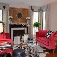 Eclectic Living Room by Erika Bonnell Interiors