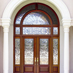 Estate Collection - DbyD1001 - The detail in the glass and paneling makes this an impressive entry way for any house.